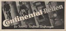 """CONTINENTAL-Reifen, Werbung / Anzeige 1936, """"für Fahrrad-Kraftrad-Kraftwagen"""""""