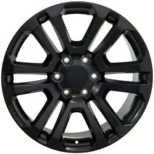 "Set (4) 20"" GMC Sierra 1500 Style Replica Wheels Rims Matte Black 20x9 Flat"