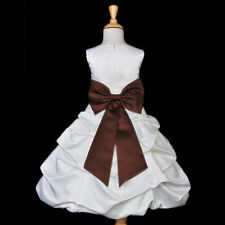 IVORY QUINCEANERA DRESS FLOWER GIRL BRIDESMAID FORMAL PICK-UP PAGEANT HOLIDAYS