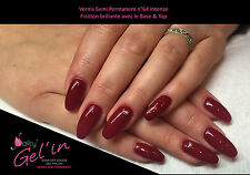 Vernis Semi Permanent NAILITY UV/LED/CCFL n°64  Intense 7ml GEL POLISH USA