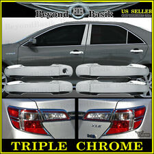 2012-2014 Toyota Camry Chrome Door Handle Covers+Chrome Tail Light Bezel Covers