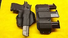 HOLSTER COMBO BLACK KYDEX DESERT EAGLE 357 44 MAG 50 AE With TRIPLE MAG HOLSTER