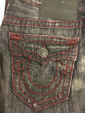 TRUE RELIGION RICKY SUPER T MEN JEAN DEED WORN GRANITE M859NTZ1 NWT S-34W $379