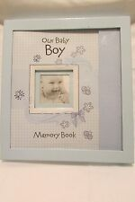 NIP Our Baby Boy Memory Book Magnetic Close Scrapbook By Christian Art Gifts