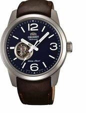 Orient Scout FDB0C004D0 Blue Dial Brown Leather Band Men's Watch