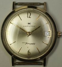 Vintage Hamilton 33mm Thin-o-matic 14K Gold 627 Swiss 17j Date Automatic Watch