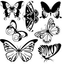 Butterfly Vinyl Graphic Decal Car Window Sticker Funny Set Of Seven  Butterflies