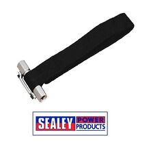 """SEALEY Oil Filter Strap Wrench 300mm Capacity 3/8"""" & 1/2""""Sq Drive AK6403"""