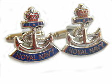 Royal Navy Anchor Design Military Cufflinks