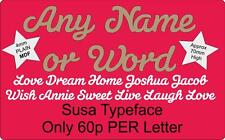 FREE POST Any Word or Name Script Word, Door Sign & Wall Letters. 4mm MDF