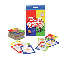 Learning Resources Exact Change Coin Value Card Game  where every penny counts