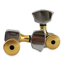 Sperzel Accent Trim Lock Tuners, 3x3 Nickel with Gold Accents