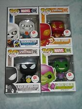 Marvel Funko Pop Iron Spider Black Suit Spider-Man Taskmaster Green Goblin Set