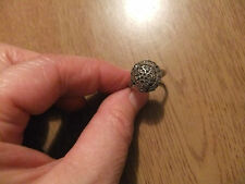 very old vintage marcasite silver ring made in Ireland sz 6
