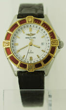 Breitling Lady J Class Stainless Steel 18K Gold Date Quartz Watch D52064 Women's