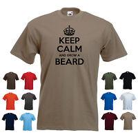 'Keep Calm and Grow a Beard' Moustache/ovember Mo Tache Funny T-shirt