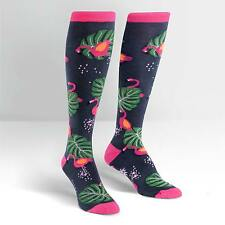 Sock It To Me Women's Knee High Socks - Flamingo