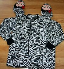 Betty Boop Footed Pajamas Zebra Print 3D Atop Feet One Piece NEW S LAST ONE GIFT