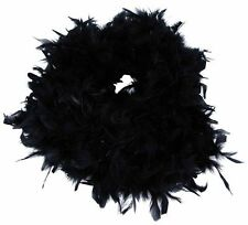 Black Feather Boa Fancy Dress Flapper Burlesque Charleston 1920's Hen Nights