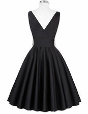2017 Retro Bowknot Swing 1950s Housewife Pinup Vintage Rock N Roll Party Dresses