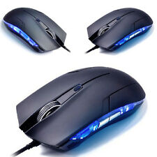 6D scontorno 1600 DPI USB Con filo Per Giochi Game Mouse Mice PC Laptop Nero HOT