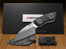 BOKER TREE BRAND Black Micarta Pry-Mate Fixed Blade Stainless Knives Knife