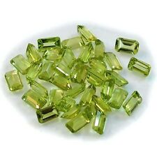 1Pc Natural Peridot Rectangle (eye clean, faceted-6mm X 4mm)
