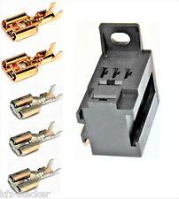 Sockel f. Kfz - Relais 2 x 6,3mm; 3 x 4,8mm Flachsteckhülsen Relaissockel Micro