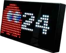 PAC-MAN Premium LED Desk Clock - 512 Vibrant LED's Display Classic Animations Fr
