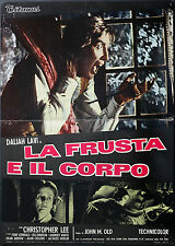 THE WHIP AND THE BODY orignal movie poster LAVI, LEE, MARIO BAVA ITALIAN RELEASE