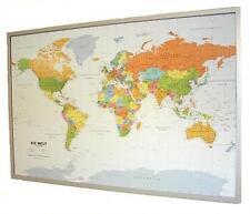 World map on Cork Pin board - german 35 2/5x23 3/5in + 12 pin 199067