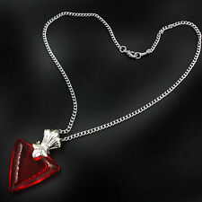 Anime Fate/stay night Tohsaka Rin Crystal Heart Pendant Necklace Archer Cosplay