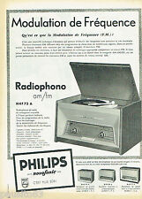 PUBLICITE ADVERTISING 115  1958  Philips  le radiophone  série Novofonic