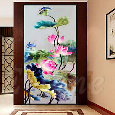 DIY 5D Diamond Painting Flower Lotus Embroidery Cross Crafts Stitch Home Decor