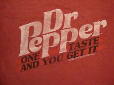 "Dr. Pepper ""One Taste and You Get It"" Soda Pop Soft Drink Soft Red T Shirt L"