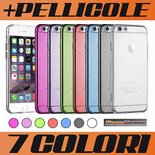 COVER CUSTODIA per IPHONE 6 APPLE 0.3 mm MORBIDA + PELLICOLA BUMPER CASE TPU GEL