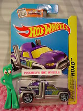 Case L 2015 i Hot Wheels DIESEL DUTY truck #117∞Purple/Green∞Off-Road∞creased