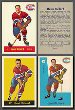 Henri Richard 3 card Reprint Combo,incl. RC #4, #39 & #47 from different years