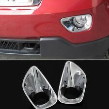 2pcs Chrome Front Fog Light Lamp Bezel Cover Trim for Jeep Grand Cherokee 11-13