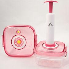 Vakuum Behälter Frischhaltedose Frischhaltebox Vorratsdosen Pumpe 2er Set rot