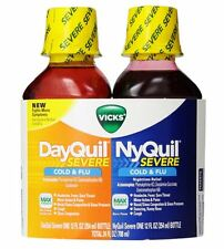 Vicks DayQuil/NyQuil Severe Cold - Flu Liquid Convenience Pack, 12 oz ea