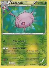 POKEMON XY ROARING SKIES - CASCOON 6/108 REV HOLO