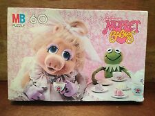 Muppet Babies Puppet Lovers Kermit & Miss Piggy Vintage Puzzle Felt NOT Cartoon!