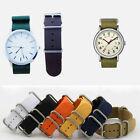 New Mens Infantry Military Army Black Green Nylon Sport Wrist Watch Band Strap