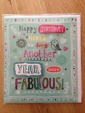 """""""Another year more fablous!"""" Happy Birthday Greetings Card *NEW* (141)"""