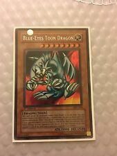 x1 Yugioh Blue-Eyes Toon Dragon MRL-000 Secret Rare 1st Ed NM Magic Ruler !