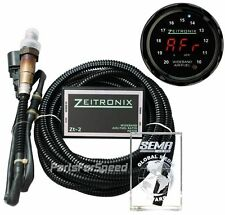 Zeitronix Zt-2 Wideband AFR / ZR-2 Black Multi Gauge Red LEDs + Serial Adapter