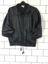 URBAN VINTAGE RETRO BLACK OLD SCHOOL SHELLSUIT WINDBREAKER JACKET UK M/L