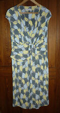 Pepperberry for Bravissimo, size 18 RC / SC; faux wrap dress; pale yellow + grey
