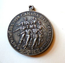 World War II Canadian Silver Issue Canadian Voluntary Service Medal Disk Only